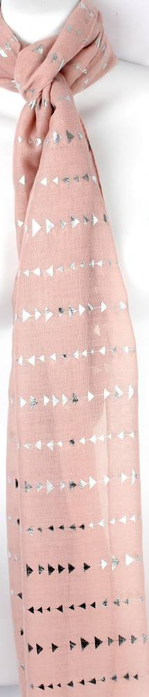 Printed foil scarf w gold arrow blush scarf Style:SC/4360/BLSH