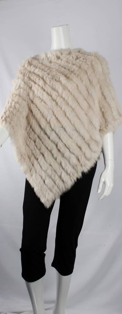 Alice & Lily fur poncho plain cream STYLE: SC/4254 CRM GOOD STOCKS AVAILABLE