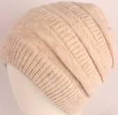 Headstart pull-on knit beanie beige Style : HS/4557