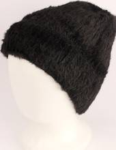 Headstart pull-on chenille beanie fully lined black Style : HS/4559