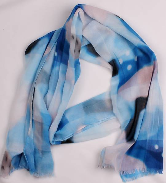 Alice & Lily printed  scarf blue Style:SC/4564/BLU