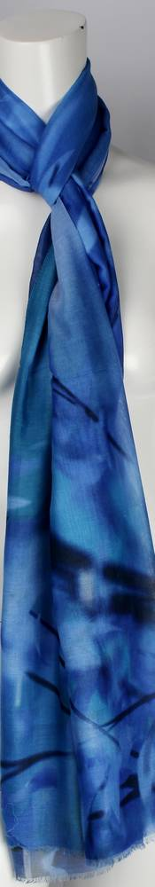 Alice & Lily printed  scarf teal Style : SC/4569/TEAL