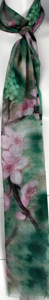 Alice & Lily printed  scarf teal Style:SC/4571/TEA