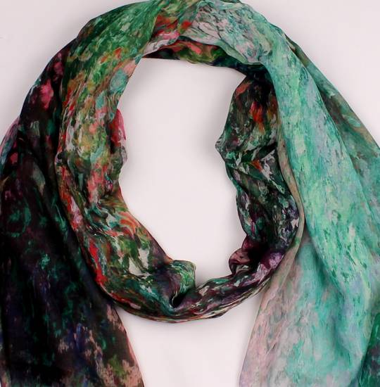 Alice & Lily printed  scarf teal Style : SC/4574/TEAL