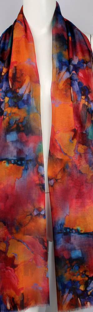Alice & Lily printed  scarf bright abstract red Style:SC/4648/RED