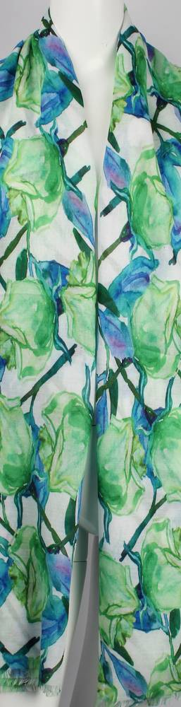 Alice & Lily printed  scarf  rose green Style:SC/4653/GRN
