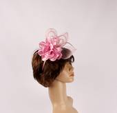Headband fascinater w flower blush STYLE: HS/4680/BLSH