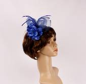 Headband fascinater w flower blue STYLE: HS/4680/BLU