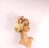 Linen fascinater w beads and feathers gold STYLE: HS/4687/GLD