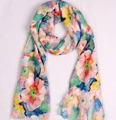 Alice & Lily printed  scarf floral peach Style:SC/4746PCH