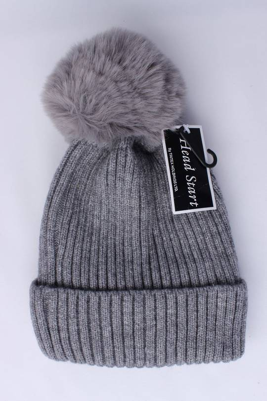 Headstart  cashmere fleece lined beanie grey Style : HS/4748GRY