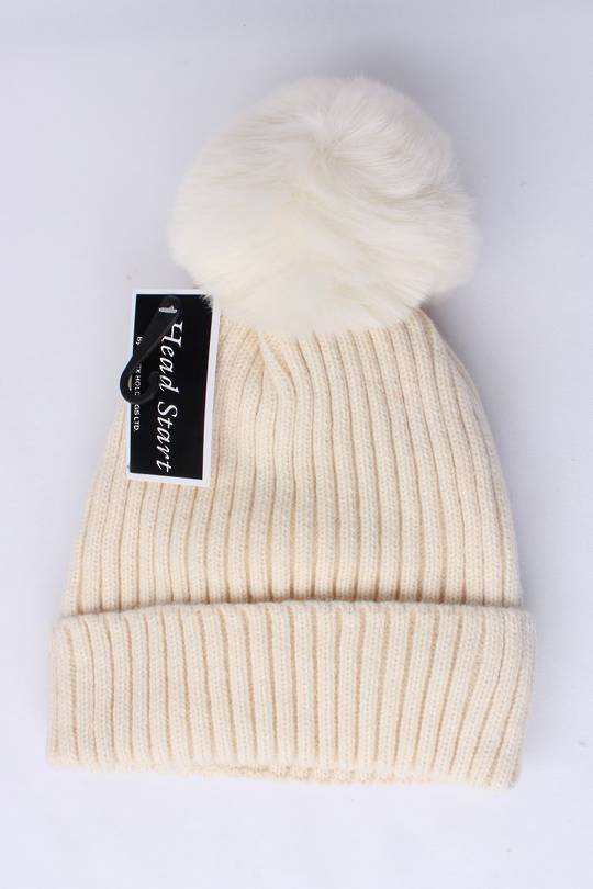 Headstart  cashmere fleece lined beanie natural Style : HS/4748NAT