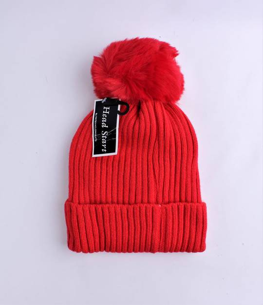 Headstart  cashmere fleece lined beanie red Style : HS/4748RED