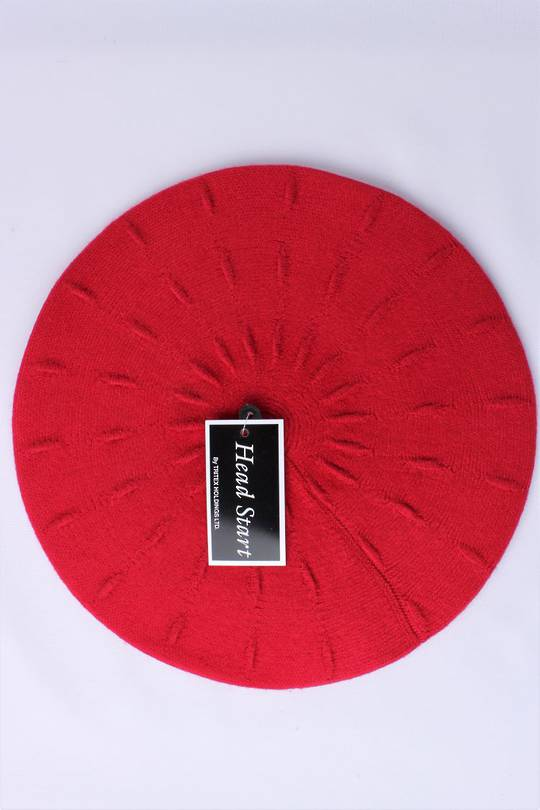 Headstart  cashmere beret red  Style : HS/4752RED