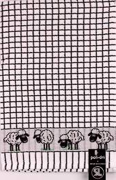 Samuel Lamont poli dri black sheep  tea towel Code:TT-706JSHEEP