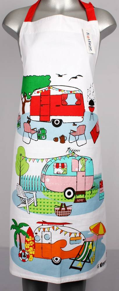 Retro Caravans large apron Code: APR-RET/L. (NEXT DELIVERY MARCH 2021)