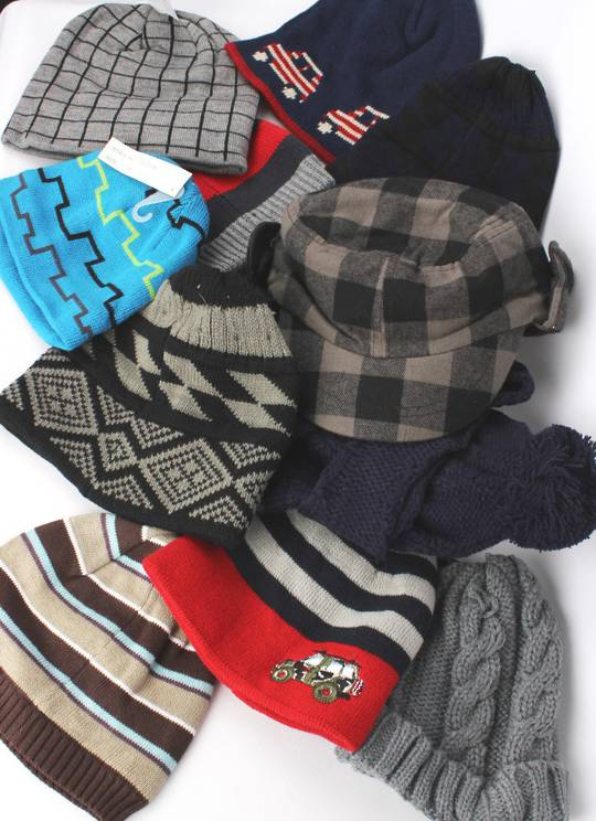 BOYS 12 PACK WINTER HAT PACK DEAL  SIZES S M L  STYLES : ASSORTED