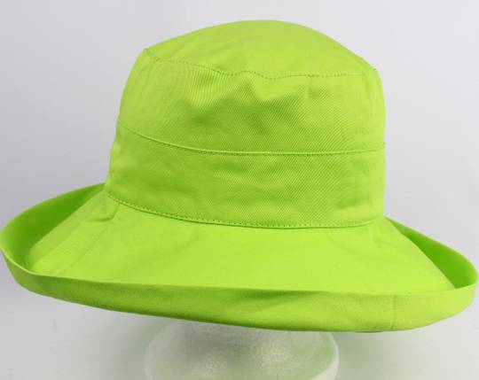 Classic cotton noosa hat lime Code:HS/5600 -10 COLOURS