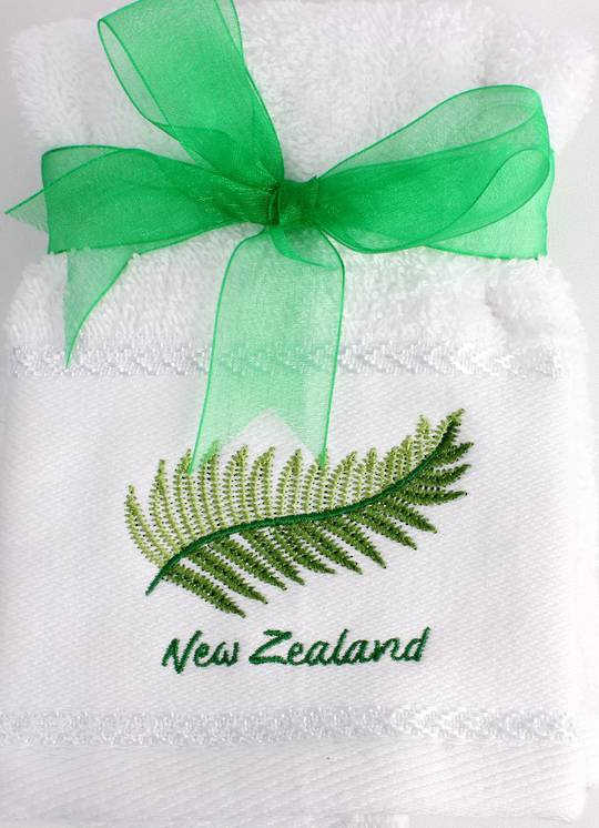 Matching Embroidered 2 facecloth gift set- Fern Code: FAC-FER/2SET