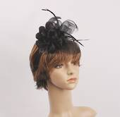 Headband fascinater w flower black STYLE: HS/4680/BLK