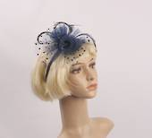 Headband fascinater w w spotted net navy STYLE: HS/4681 /NVY