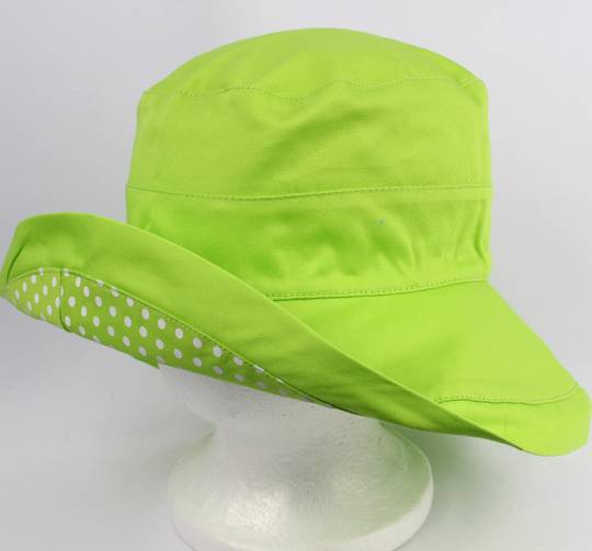Reversable classic Noosa style with spots lime Style: HS/5601LIME