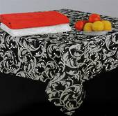 Scroll tablecloth black 140x180cm Code:T/C-SCR/180/BLK