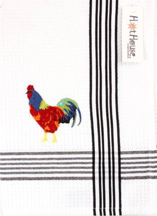 """Bantam"" embroidered tea towel: CODE: T/T-BAN. (NEXT DELIVERY MARCH 2021)"