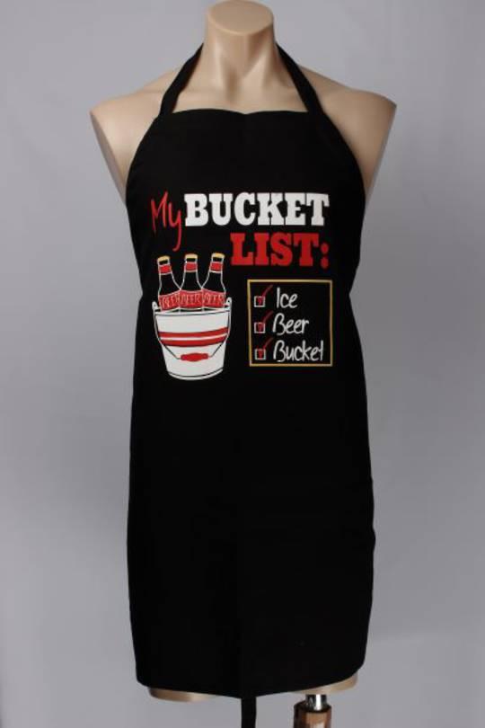 BBQ apron Bucket List. Code: APR-BBQ/BUCKET