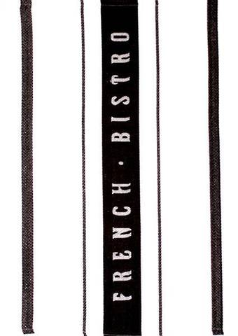 """French Bistro"" tea towel black. Code: T/T-FB/BLK."