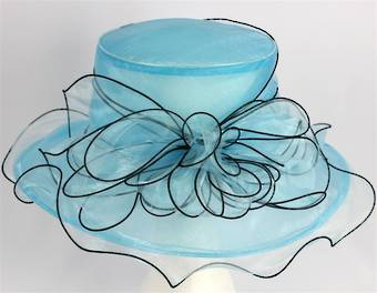 Organza fashion hat turq Code:HS/1219