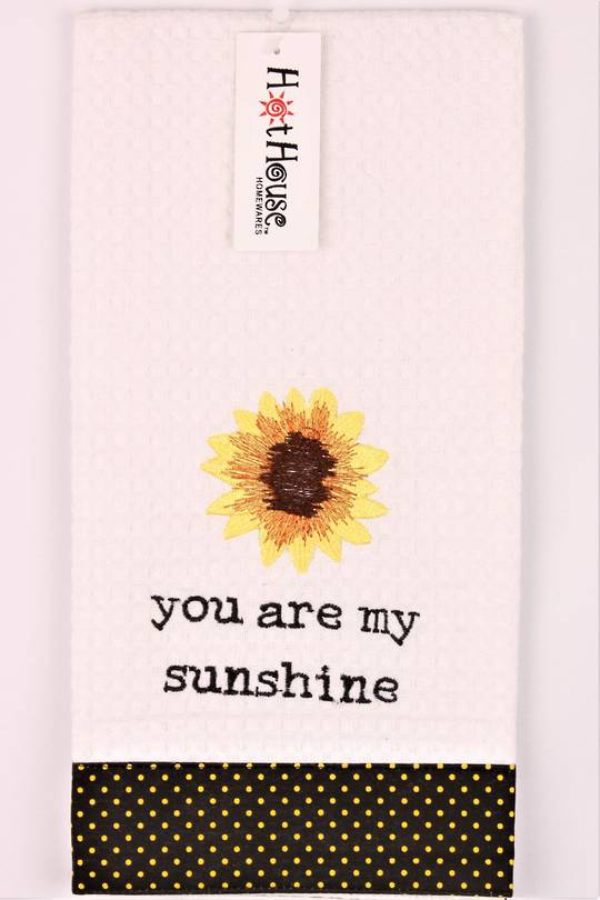 "Novelty ""You are my sunshine"" tea towel Code:T/T-GF/SF. (NEXT DELIVERY MARCH 2021)"