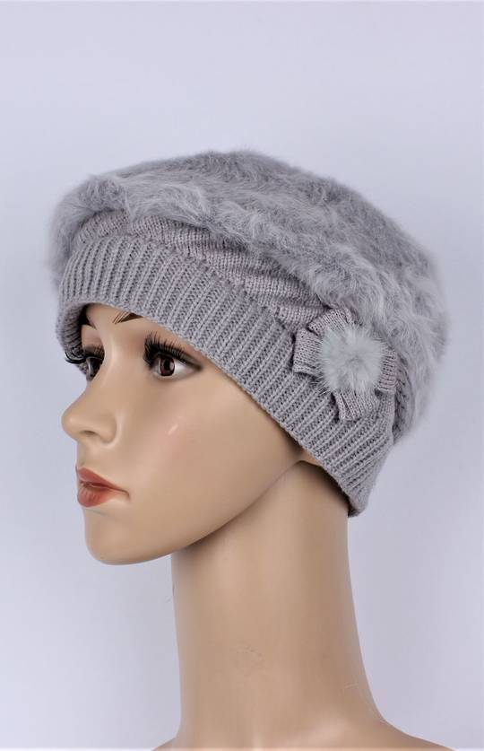 Headstart  cashmere fleece lined beret grey Style : HS/4754GRY