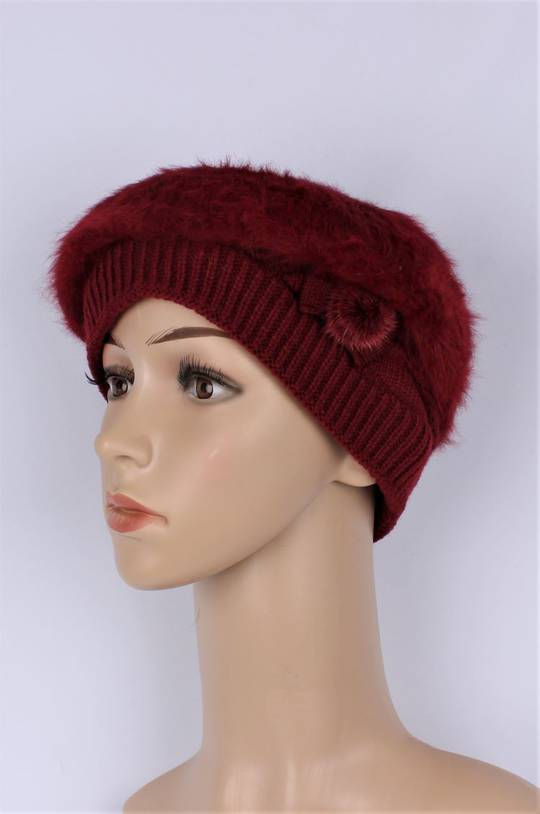 Headstart  cashmere fleece lined beret red Style : HS/4754RED