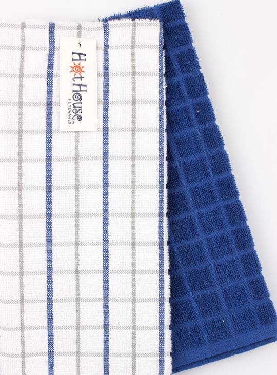 Kitchen hand towels 2 pack terry 'Sorrento' royal Code: KT-SOR/2PK/ROY
