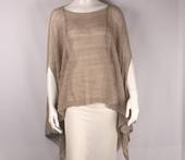 Alice&Lily viscose lurex knit poncho natural Style: SC/4640NAT