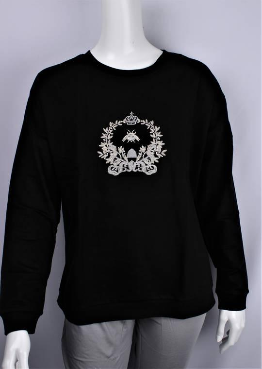 Alice & Lily sweatshirt w embroidered queen bee black STYLE : AL/QBEE/BLK