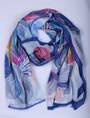 Alice & Lily printed scarf blue Style : SC/4791BLUE