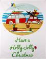 Tea towel Christmas 'Have a holly jolly Christmas' Code: TT-CH/JOL