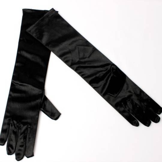 Evening glove of length 8bl black Code:S/EV5231