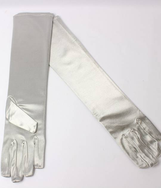 Evening glove of length 8bl silver Code:S/EV5231