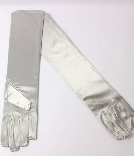 Evening glove of elbow length 12bl silver Code:S/EV5232