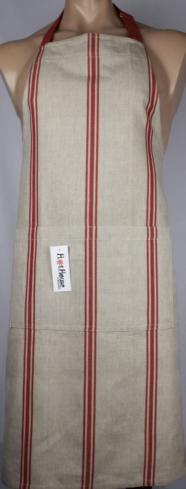 Marseille linen union apron red Code: APR-MAR/RED