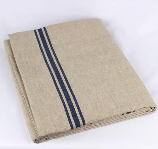 Marseille linen union table cloth 140x180cm blue Code: TC-MAR/180/BLU