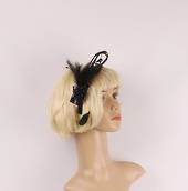 Feather and bead headband black Style:HS/1355