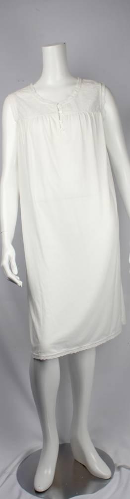Bamboo Cotton  sleeveless nightie grey,ivory  Style: AL/ND-267IVORY