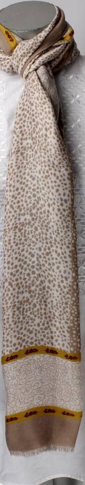 Soft brushed winter printed scarf beige Style: SC/4264BGE