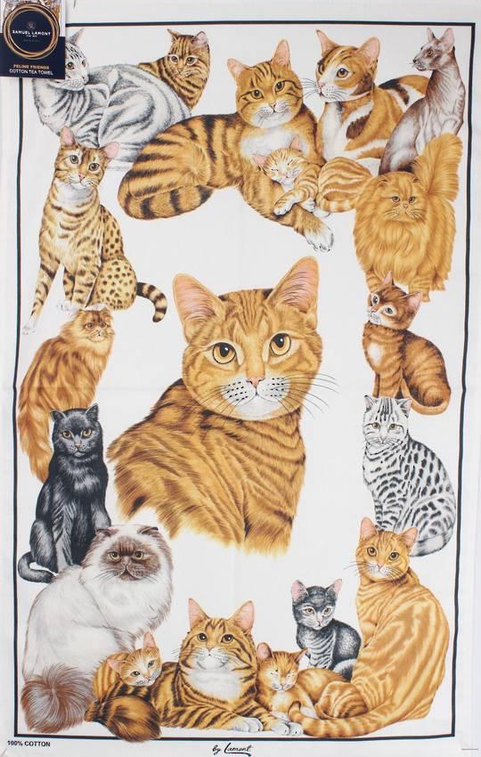 Samuel Lamont 'Feline friends'  tea towels Code:TT- 429