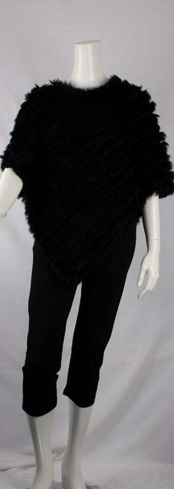 Alice & Lily fur poncho plain black STYLE: SC/4254 BLK - SORRY SOLD OUT FOR SEASON