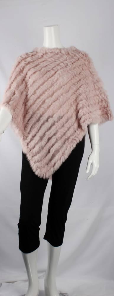 Alice & Lily fur poncho plain blush STYLE: SC/4254 BLUSH